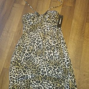 New with tags My Michelle leopard print dress